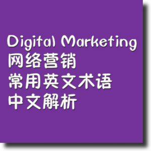 网络营销常用英语术语中文解析
