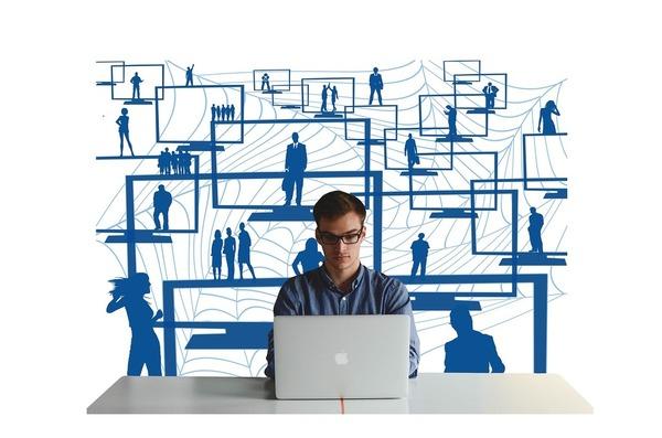 worker laptop