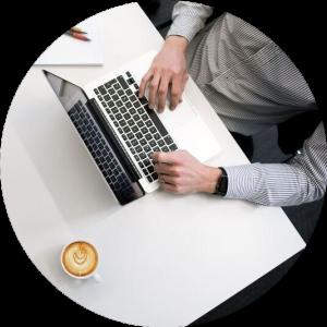 laptop circle